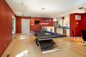 game room lighting. Best Home Pool Table Family Room Contemporary With Ceiling Lighting Red Walls Game