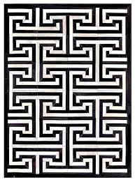 Concept Black And White Rug Patterns Maze Pattern Cowhide Area Throughout Innovation Ideas