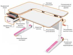 Стол для школьника MEALUX <b>Woodville</b> (Меалюкс Вудвил ) в ...