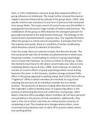 sample essay on influences of conformity and obedience 3