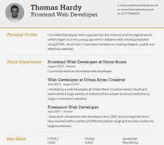 free html resume templates for your successful online job    thomas