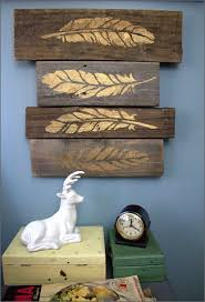 diy wall art ideas and do it yourself wall decor for living room bedroom bathroom teen rooms diy rustic gold leaf on pallet wall art cheap ideas for  on gold leaf feather wall art with diy wall art ideas and do it yourself wall decor for living room