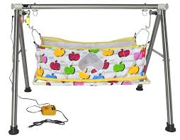 Buy MultiPro Stainless Steel Automatic Electric Ghodiyu Cradle Swing ...