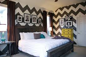 High Quality Blue Chevron Bedroom Ideas