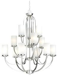 3 light chandelier brushed nickel oxford by lighting hampton bay nove hampton bay nove 5