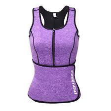 Feelingirl Neoprene Sauna Suit Tank Top Vest With Adjustable Waist Trimmer Belt See The Size Chart
