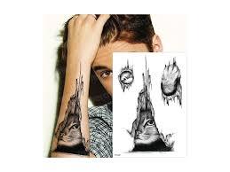 Voděodolné Dočasné Tetování Motiv Kočka