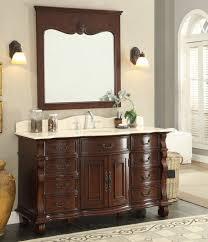 antique looking bathroom vanity. 60 Inch Antique Style Bathroom Vanity Cream Marble Top Looking N