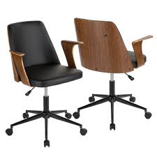 upholstered office chairs. Perfect Office Shop Verdana MidCentury Modern Upholstered Office Chair With Wood Accents   On Sale Free Shipping Today Overstockcom 20360900 With Chairs
