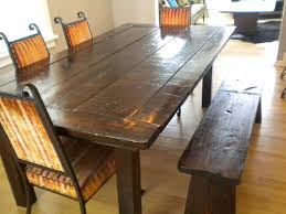 marvellous inspiration ideas rustic dining table with bench 11
