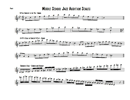 Trumpet Chromatic Scale Chart Holly Grove Middle Jazz Band