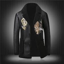 2019 famous designer leather jacket men 2018 newest men winter coats usa brand tiger print faux sheepskin leather jacket from ritalei 121 45 dhgate com