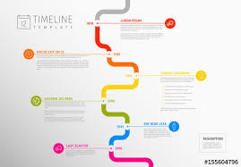 Wavy Vertical Path Timeline Layout Buy This Stock Template And