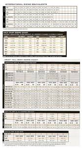 Tuff Jeans Size Chart Sizing Charts For Sports Equipment Logical Mens Jeans Size