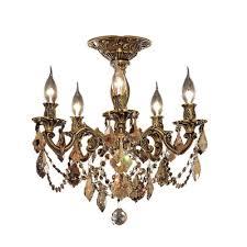 utica 17 5 light crystal chandelier finish crystal color crystal trim