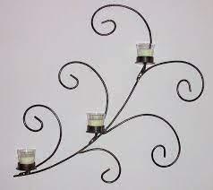 metal candle holder wall art metalsmith