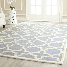 safavieh cambridge collection cam125a handcrafted moroccan geometric light blue and ivory premium wool area rug 9