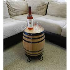 awesome oak barrel end table regarding barrel end tables
