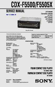 sony cdx gt710 wiring diagram wiring diagrams sony cdx f5500 cdx f5505x service manual rh servicemanuals us sony car cd player wiring diagram sony stereo wiring colors