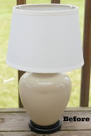 Table Lamp Makeover White Lights On Wednesday