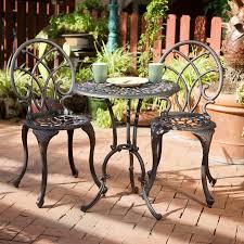 best ing home decor charleston 3 piece bronze metal frame bistro patio dining set