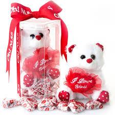 milk chocolate gift with teddy bear