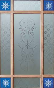 close up of downham glass design