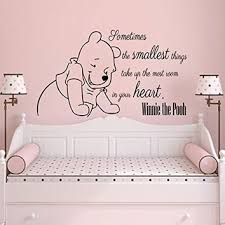 wall decals quotes vinyl sticker decal quote winnie the pooh sometimes the smallest th on baby girl wall art quotes with wall decals quotes vinyl sticker decal from amazon kids boys
