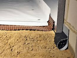 leadville installation of silverglo insulation with our crawl space pipe drainage matting floor