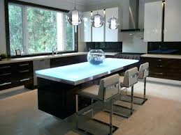 idea think glass countertops for glass countertop with backlighting on kitchen island 57 recycled glass countertops