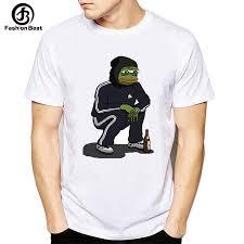 Animal T <b>Shirt</b> Men Funny Pepe Frog T <b>Shirt 2018 Cartoon Printed</b> ...