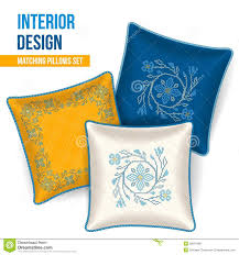 Decorative Pillow Set Set Of Decorative Pillow Stock Photo Image 36019540