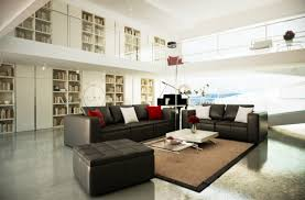 Living Room Black Leather Sofa The Most Beautiful Spacious Living Room Decorating Ideas With