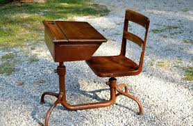vintage school desk with attached chair wood and metal adjule height child children kid size impressive vintage school desk with attached