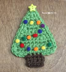 Crochet Christmas Tree Pattern Stunning Crochet Christmas Tree Applique Repeat Crafter Me