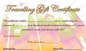 travel voucher template free travelling gift certificate template gift certificate