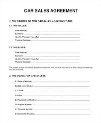 Sale Agreement Forms Buy Sell Agreement Form Vehicle Sale Forms Templates For Car