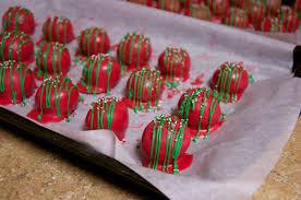 christmas cake balls. Exellent Balls Christmas Cake Balls On A