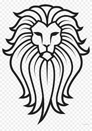 lion face black and white clipart. Perfect Clipart Lion Tattoo Animal Free Black White Clipart Images  Face To And L