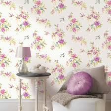Shabby Chic Wall Decor Shabby Chic Floral Wallpaper In Various Designs Wall Decor New