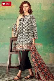 Unique Dress Design Pakistani Khaadi A17517 Black Mid Summer 2017 Original Online