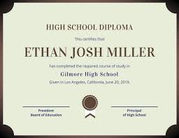 brown high school diploma templates by canva brown high school diploma