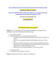 Sci Ppt Sci 163 Week 5 Individual Assignmentcourse Concepts
