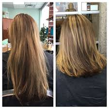 Haircut Before And After Long To Medium Quaint Beauty By Lauren
