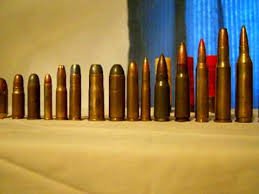 Comparison Of Ammo From 22 To 50 Cal