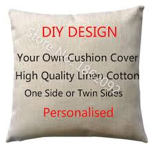 Design Your Own Pillowcase Impressive Personalized Cushion Cover Linen Personalised Custom Throw Pillow