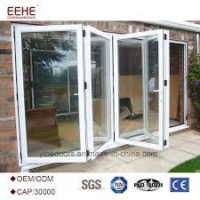 aluminum frame patio folding doors glass patio doors with tempered glass