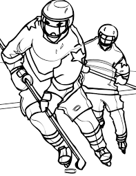Coloring Pages Hockey Jersey And Uniform Coloring Sheet Sport Page