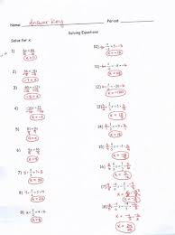 Two Step Equations Worksheet With Answers. Equations ...