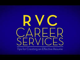Rvc Career Services Tips For Creating An Effective Resume Youtube
